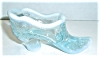 Click to view larger image of MOSSER AQUA BLUE FROST GLASS SHOE (Image2)