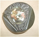 Click here to enlarge image and see more about item U21: BAKELITE VICTORIAN SCENE 1 3/4 INCH