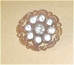 Click here to enlarge image and see more about item U38: EARLY PLASTIC 9 FAUX DIAMONDS 1 1/8 INCH