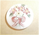 Click here to enlarge image and see more about item U44: MOTHER OF PEARL HAND PAINTED J. LAWERENCE 93