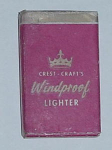 Click here to enlarge image and see more about item w106: OLD CRESTCRAFT EUREKA LIGHTER IN BOX