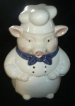 Click here to enlarge image and see more about item W214: PIG COOKIE JAR CKA
