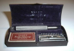 Click here to enlarge image and see more about item W218: VINTAGE RARE 1920`S RAZOR GIFT/NEWSPAPER