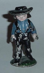 Click here to enlarge image and see more about item W231: CAST IRON AMISH BOY