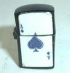 Click to view larger image of MINI BLACK LIGHTER ACE OF SPADES (Image1)