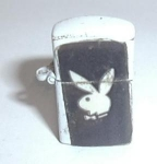 Click to view larger image of WHITE PLAYBOY MINI VENDING MACHINE LIGHTER (Image1)