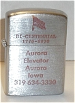 Click to view larger image of ADVERTISING AURORA ELEVATOR AURORA IOWA (Image1)