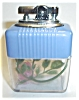 Click to view larger image of JAPAN VU BLUE/CLEAR ROSE TABLE LIGHTER (Image2)