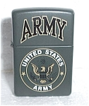 Click to view larger image of GREEN ZIPPO UNITED STATES ARMY  LIGHTER  C 02 (Image1)