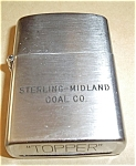 Click to view larger image of STERLING-ISLAND COAL CO. TOPPER LIGHTER (Image1)