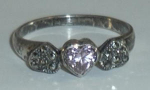Click here to enlarge image and see more about item W71: .925 3 HEART RING