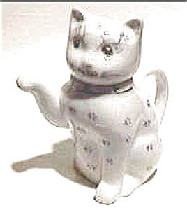 Cat ceramic china teapot figurine (Image1)