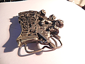 Belt Buckle Vintage Country Western band pewter (Image1)