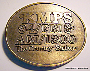 Belt Buckle KMPS radio station Washington 1970s (Image1)