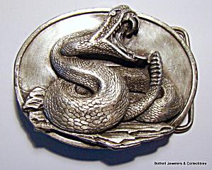 Belt buckle Rattlesnake vintage 1987 (Image1)