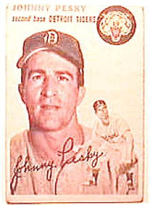 Johnny Pesky baseball card 1954 Topps #63 (Image1)