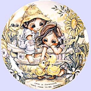 'Children Of The Seasons' Jody Bergsma plate set (Image1)