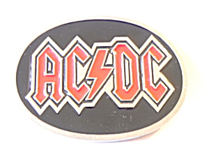 ACDC Vintage Belt Buckle rock band  (Image1)