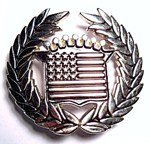 Belt Buckle Cadillac American Flag