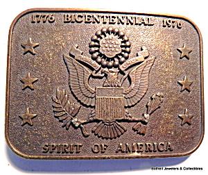 Vintage bicentennial 1776-1976 belt buckle (Image1)