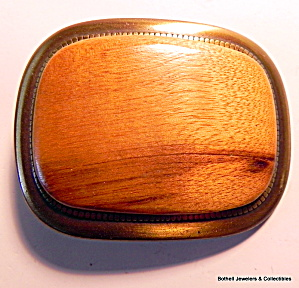 Belt Buckle Myrtlewood vintage bronze  (Image1)