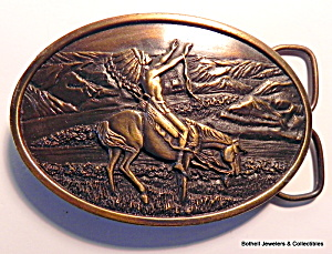 Belt Buckle Native American Chief  vintage  (Image1)