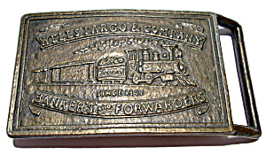 Vintage Wells Fargo bronze belt buckle (Image1)