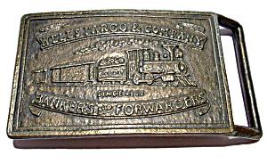 Vintage Wells Fargo bronze belt buckle (Image1)