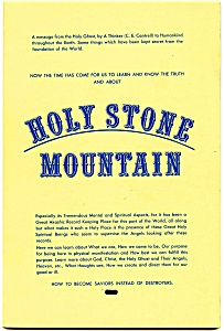 'holy Stone Mountain' Rare Vintage Book