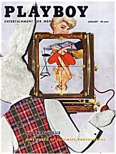 Playboy Vintage Magazine January 1956 (Image1)