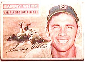 Sammy White baseball card 1956 Topps #168 (Image1)