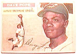 Dave Pope baseball card 1956 Topps #154 (Image1)