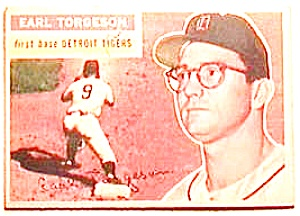 Earl Torgeson baseball card 1956 Topps #147 (Image1)