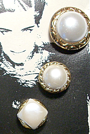Vintage Pearl Design Button Covers