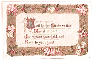Antique Vintage Christmas Postcard 1911 (Image1)