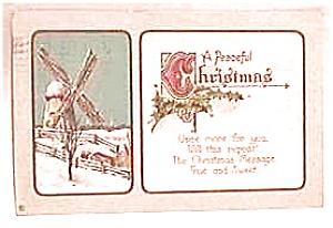Antique Vintage Christmas Postcard 1914 (Image1)