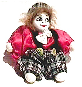 Vintage porcelain clown doll figurine (Image1)