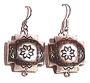 Navajo Style Engraved Earrings