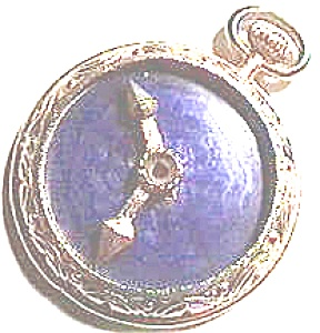 Clock Design Blue Stone Pendant