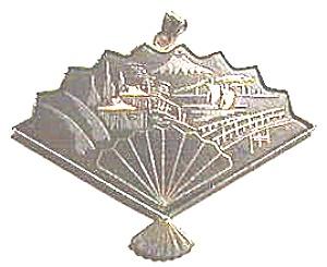 Fan Design Metal Enlay Pendant (Image1)