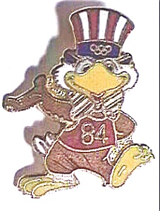 Sam the Eagle 1984 Olympic pin (Image1)