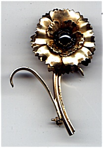 Flower Hematite brooch or pin (Image1)