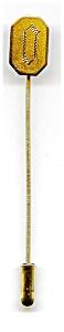 Vintage gold filled etched design stick pin (Image1)