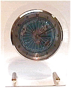 World Quartz Plexiglass Clock
