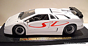 Lamborghini Diablo Sv Vintage Die Cast Model Car