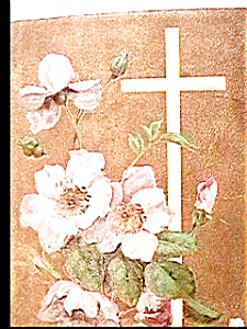 Easter Cross Flowers Postcard 1912 (Image1)