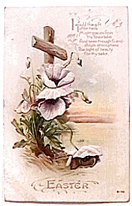 Easter Cross Flowers Postcard (Image1)