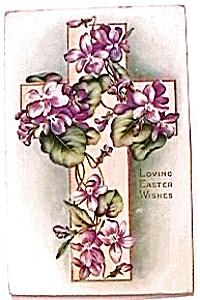 Loving Easter Wishes Postcard 1916 (Image1)
