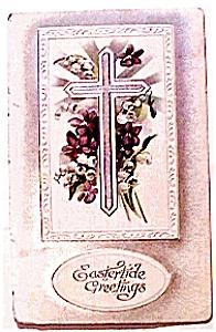 Eastertide Greetings Cross Postcard 1910 (Image1)