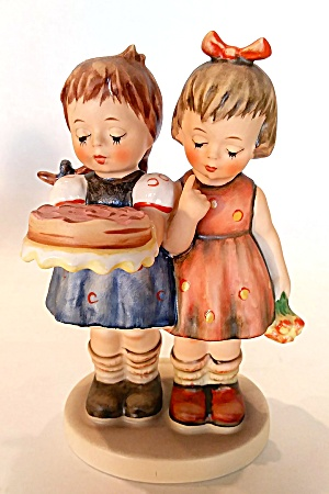 Hummel Figurine Two Girls With Cake